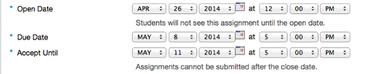 Specify the Assignment availability.