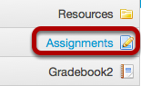 Go to your course site / Assignments.