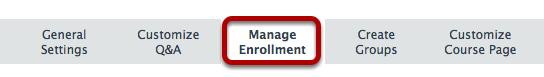 Click Manage Enrollment.