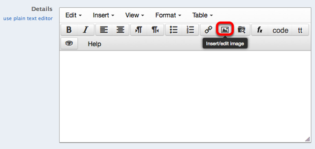 Method 1: (Use the image's URL) - Click on the Insert/Edit Image icon.