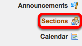 Go to Sections.