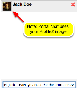Type your message in the message box and click Enter.