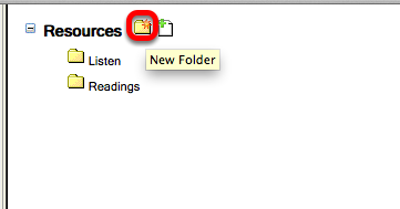 if you do not already have a folder in your resources for images, click New Folder.