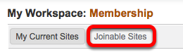 Click Joinable sites.
