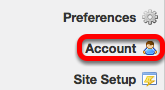 Go to Account (on your Workspace site).