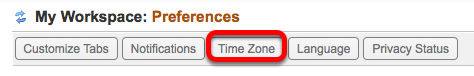 Click Time Zone.