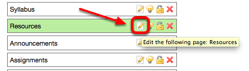 Click on the Edit Tool icon to the right of the tool you want to rename.