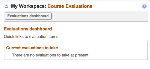 After the evaluation period closes, no pending evaluations are listed.