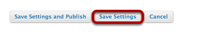 Click Save Settings.