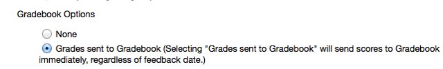 Grading Section - Gradebook Options: