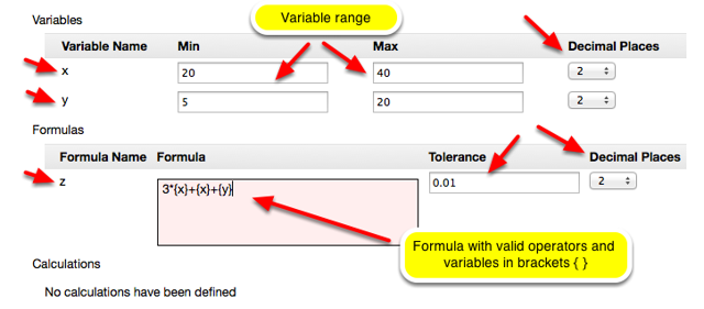 Define the Variables and Formula.