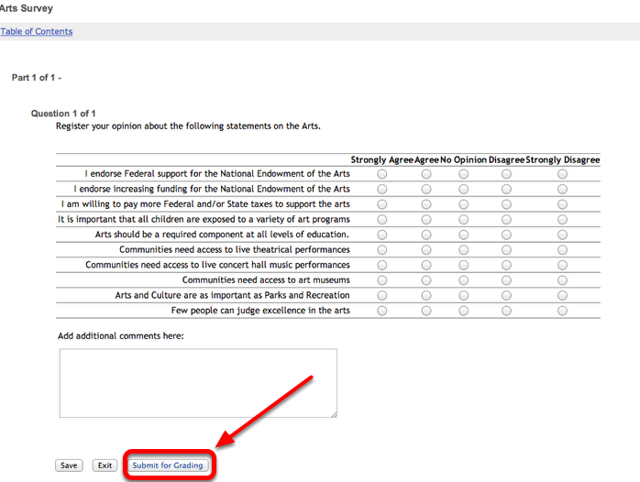 Example of what the survey looks like to those that access the survey URL: