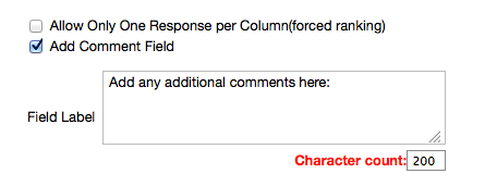 Configure responses and comments.