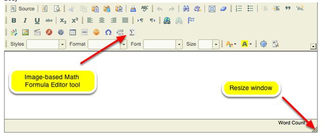 New Text Box CK Editor: