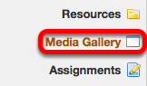 Go to the Media Gallery tool.