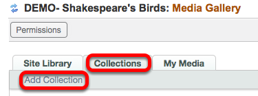 Click on the Collections tab, then Add Collection.