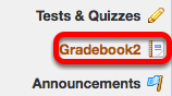 To grant TAs permission to grade students in the Gradebook2 tool, click Gradebook2.