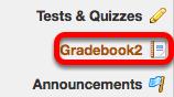 To grant TAs permission to grade students in the Gradebook2 tool, click Gradebook2.