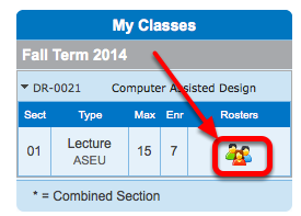 Click on the Class Roster icon.