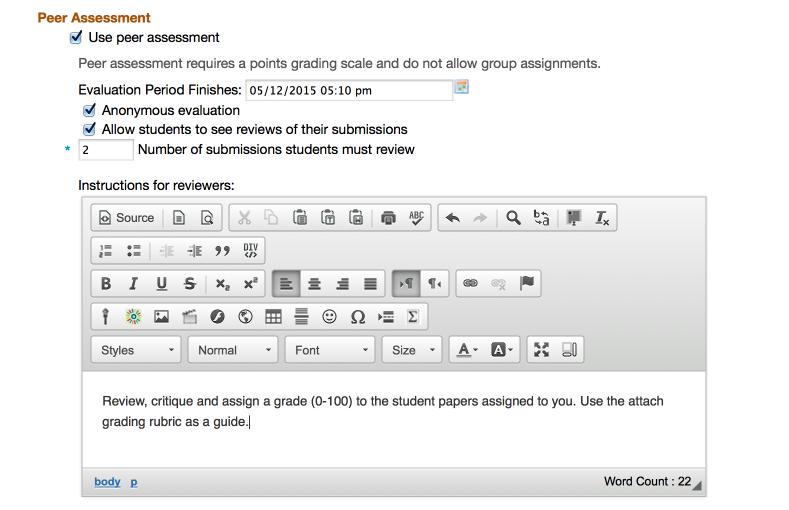 Assignments - Peer Assessment