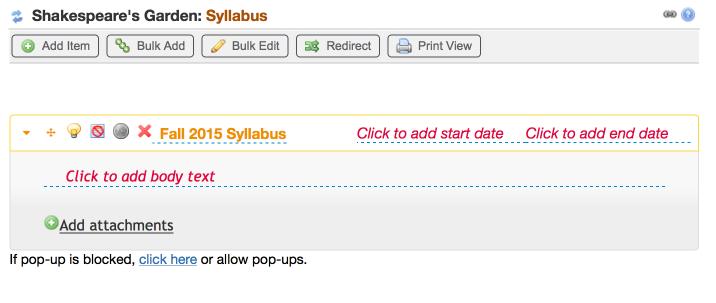 Syllabus Tool Redesigned