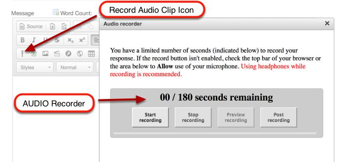 CKEditor - (Text Box) - Audio Recording Widget