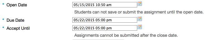 Set-up: - Specify the Assignment availability.