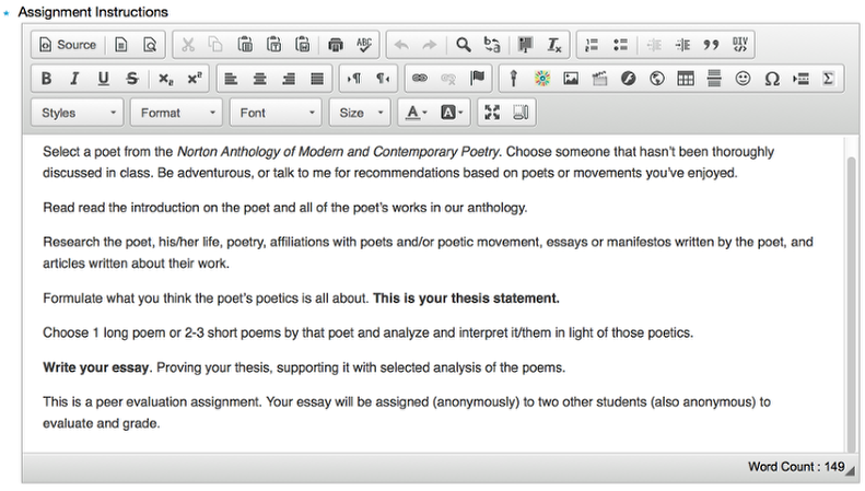 Set-up: - Add assignment instructions.