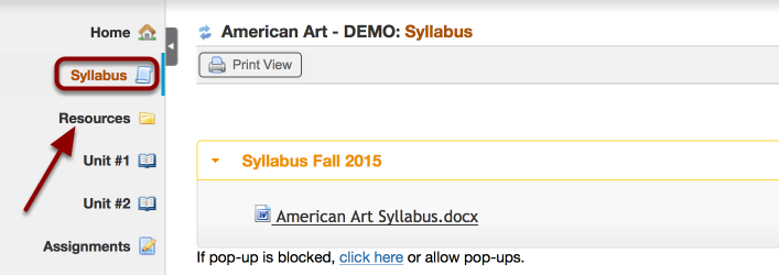 Where is the course Syllabus?