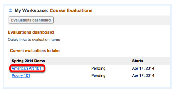 How do I access course evaluations in Trunk?
