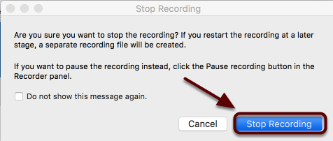 Click Stop Recording