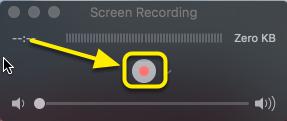 Click the Record button