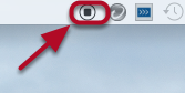 When you are finished recording, click on the Stop button located in the menu bar