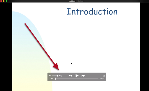 QuickTime will display the trimmed screen recording video (Example)