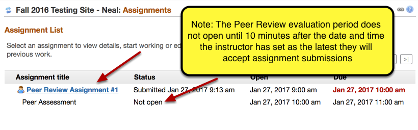 (Part 1) - Your submitted assignment is listed.