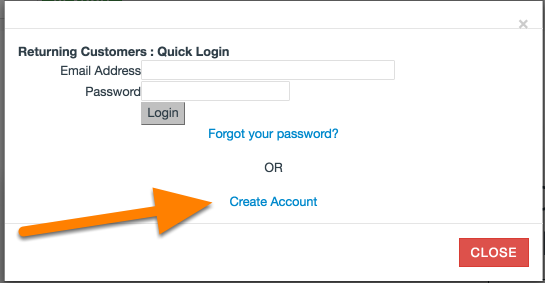 "In the box that appears, Click ""Create Account"""
