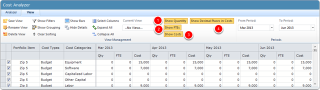 View the Management Tools in the Top Grid on the View Tab