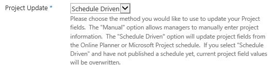 Verify / Update Scheduling Method