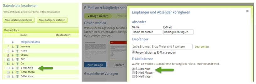 Mehrere E-Mailadressen pro Mitglied