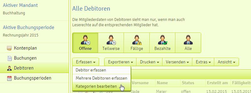 Debitorenkategorien