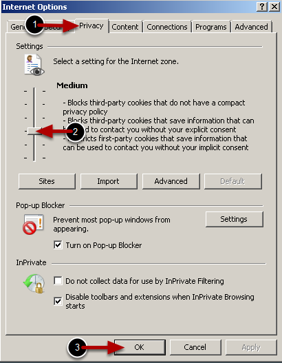 how to turn on cookies in internet explorer
