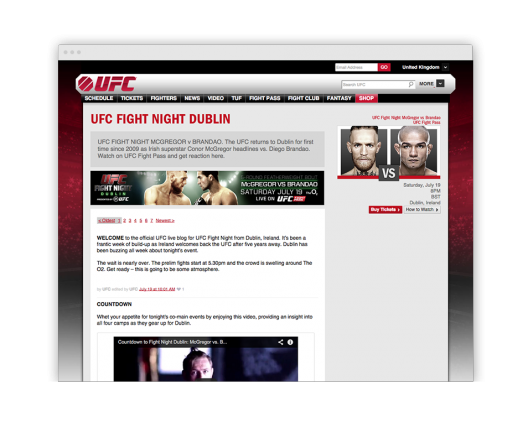 UFC Case Study on Vimeo