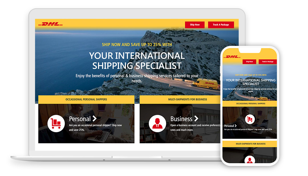 DHL Deploys Interactive Landing Pages Worldwide - ScribbleLive