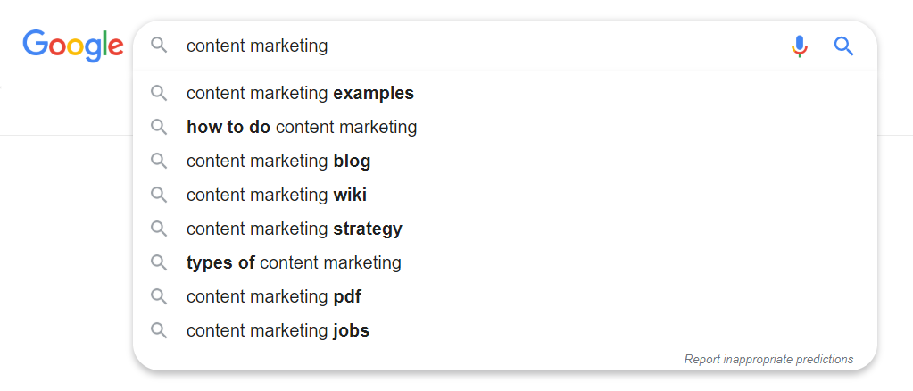 example of a search in a search engine