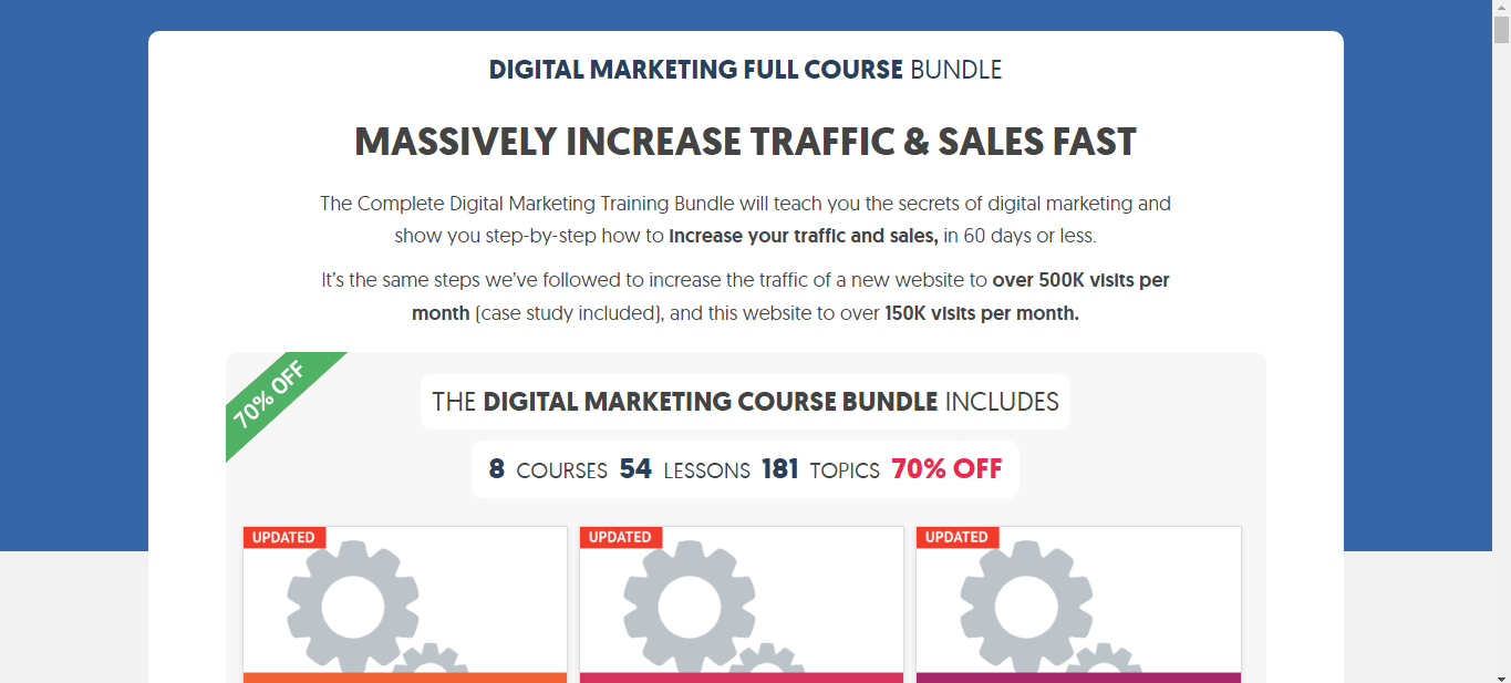 Digital Marketing Full Course Bundle on Reliablesoft Academy