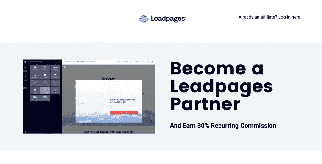 leadpages affiliate program