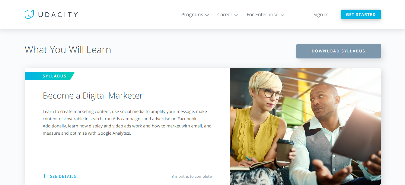 Udacity Digital Marketing Course