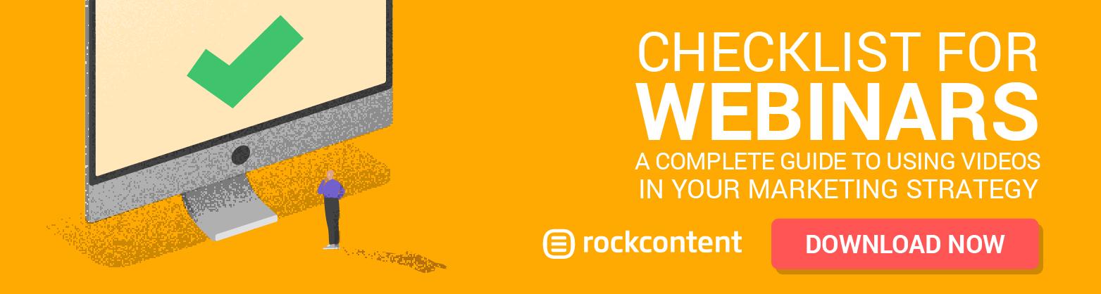 Checklist for webinars - Promotional Banner