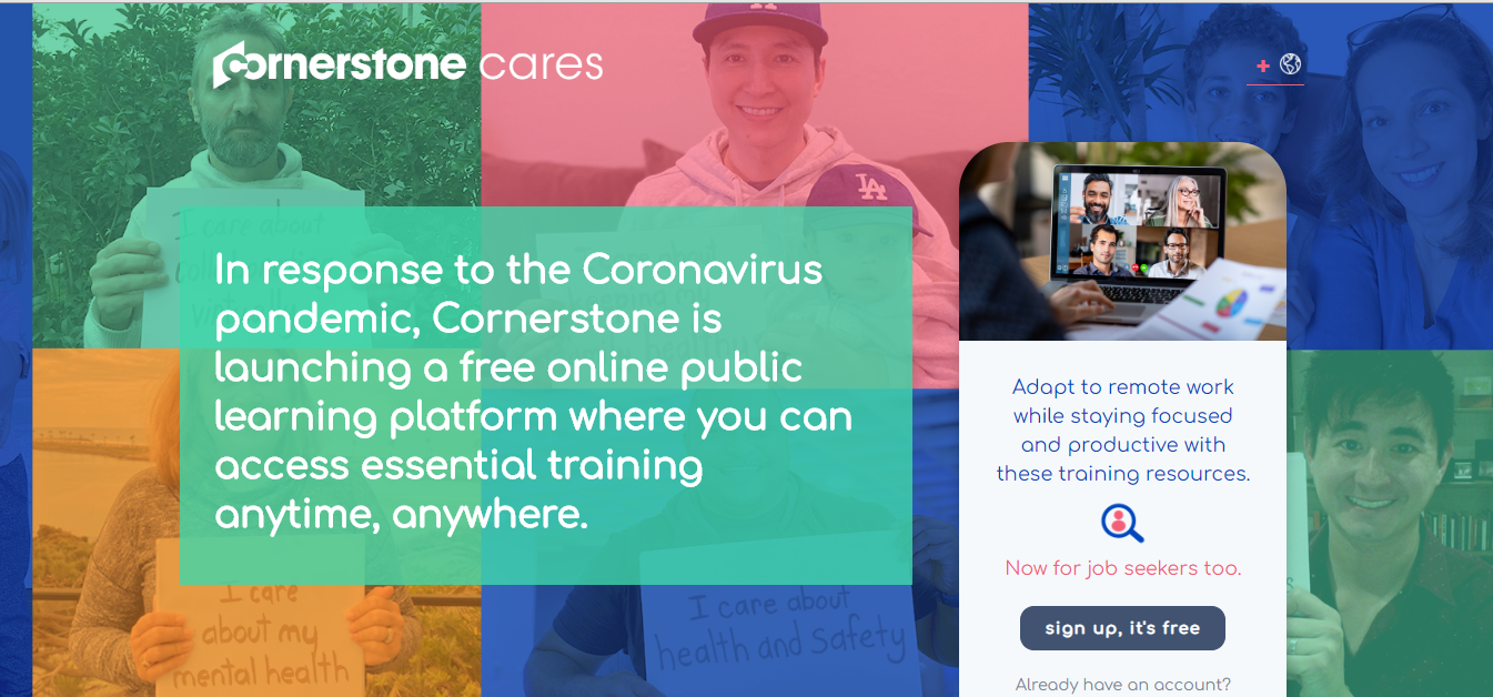 Cornerstone On Demand page