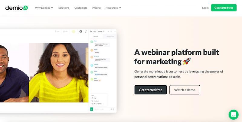 demio webinar platform
